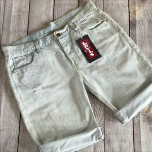 Levi's Vintage Retro Button Fly Distressed Shorts